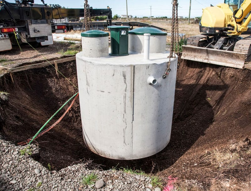 candle lake sand and gravel septic tank installation
